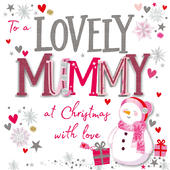 Lovely Mummy Embellished Christmas Card