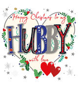 To My Hubby Embellished Christmas Card