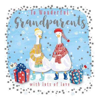 Wonderful Grandparents Embellished Christmas Card