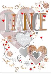 Fiance Embellished Christmas Greeting Card