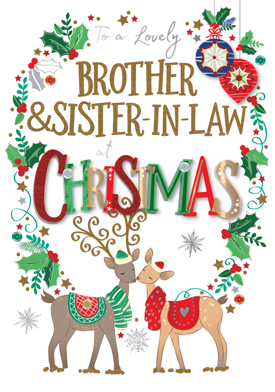 Brother /& Sister-in-Law At Christmas ~ Christmas Card
