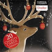 Box of 20 Reindeer & Santa Shelter Fairdeal Charity Christmas Cards