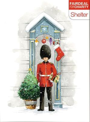 Box of 10 Festive Duty Shelter Fairdeal Charity Christmas Cards