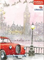 Box of 10 Santa's Taxi RNLI Lifeboats Fairdeal Charity Christmas Cards