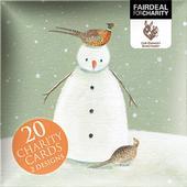 Box of 20 Snowman Donkey Sanctuary Fairdeal Charity Christmas Cards