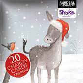 Box of 20 Donkey Stroke Association Fairdeal Charity Christmas Cards