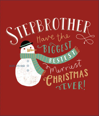 Stepbrother Embellished Christmas Greeting Card