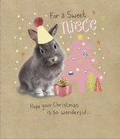 Sweet Niece Embellished Christmas Greeting Card