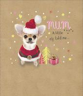 Cute Mum Embellished Christmas Greeting Card