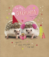 For My Girlfriend Embellished Christmas Greeting Card