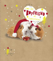 For My Boyfriend Embellished Christmas Greeting Card