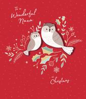 Wonderful Nana Embellished Christmas Greeting Card