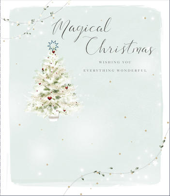 Magical Christmas Embellished Christmas Greeting Card