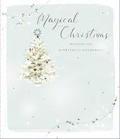 Magical Christmas Embellished Christmas Greeting Card