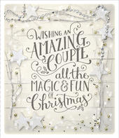 Amazing Couple Embellished Christmas Greeting Card