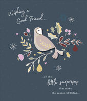 Good Friend Embellished Christmas Greeting Card