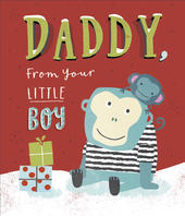 Daddy From Your Little Boy Christmas Greeting Card