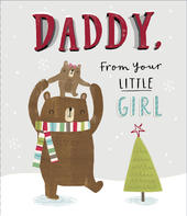 Daddy From Your Little Girl Christmas Greeting Card