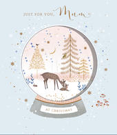 Just For You Mum Embellished Christmas Greeting Card