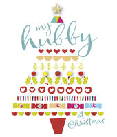 My Hubby Embellished Christmas Greeting Card