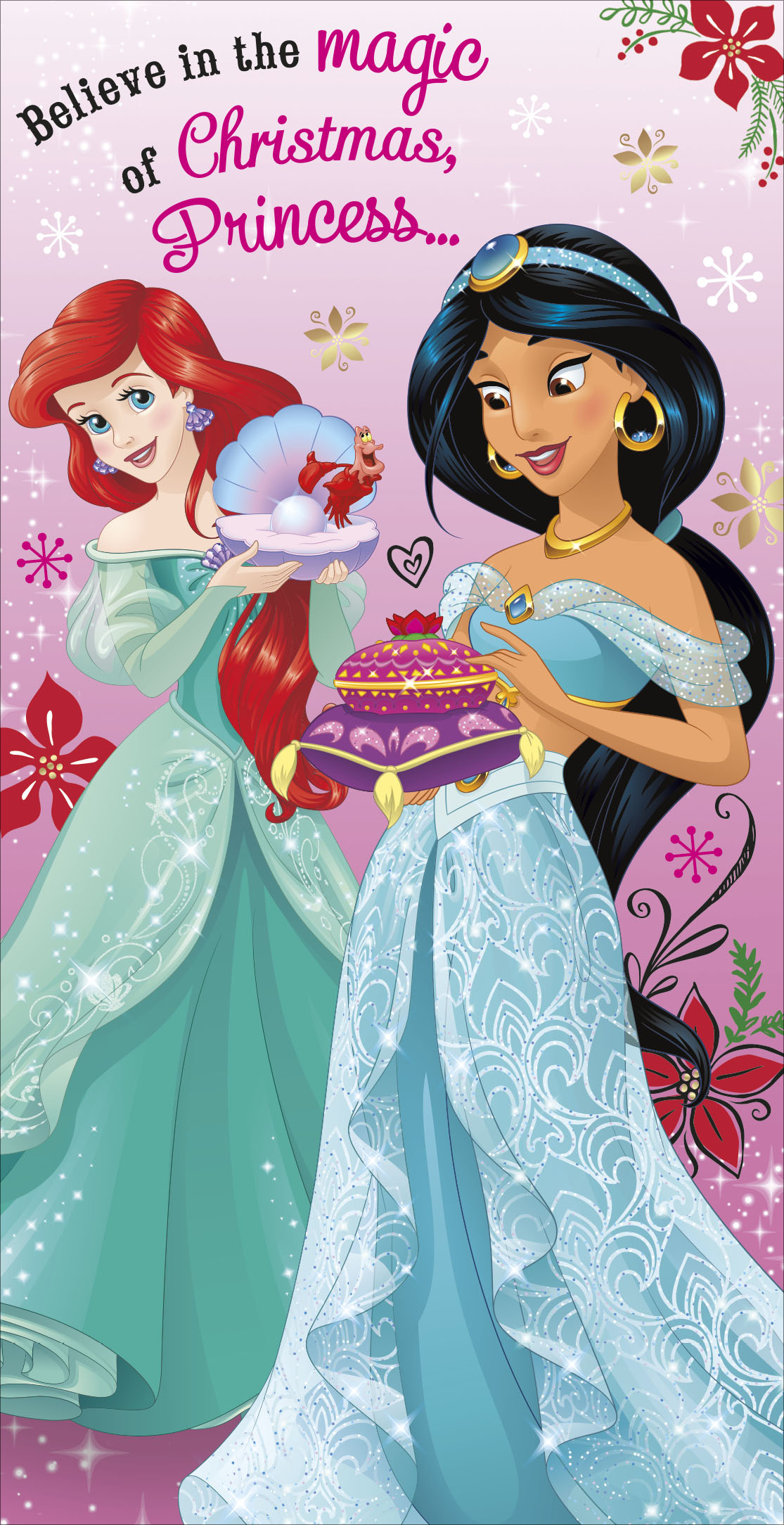 A Princess For Christmas Poster.Disney Princess Christmas Money Wallet Gift Card