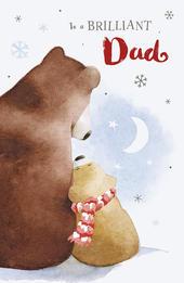 Brilliant Dad Cute Albert Bear Christmas Card