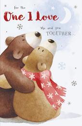One I Love Cute Albert Bear Christmas Card