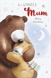 Lovely Mum Cute Albert Bear Christmas Card