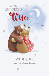 Gorgeous Wife Cute Albert Bear Christmas Card