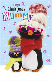 Mummy Penguin Pals Happy Christmas Card