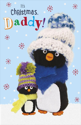 It's CHristmas Daddy Penguin Pals Christmas Card
