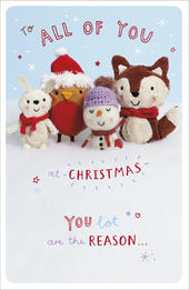 To All Of You Little Snowflakes Christmas Card