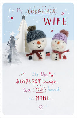 Gorgeous Wife Little Snowflakes Christmas Card