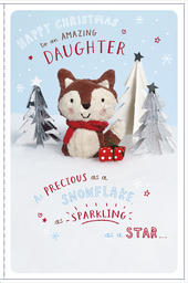 Amazing Daughter Little Snowflakes Christmas Card