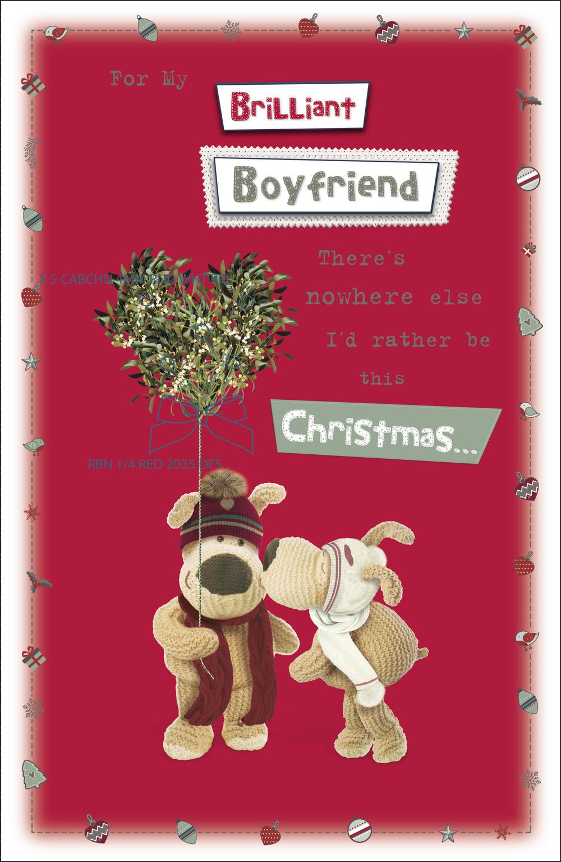 Boofle Boyfriend Embellished Christmas Greeting Card