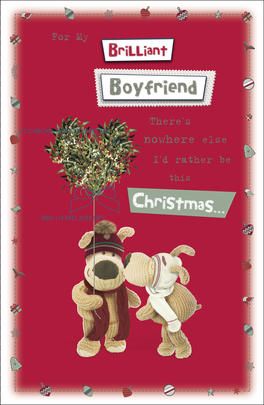 Boofle Boyfriend Embellished Christmas Greeting Card