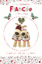 Boofle Wonderful Fiancee Christmas Greeting Card