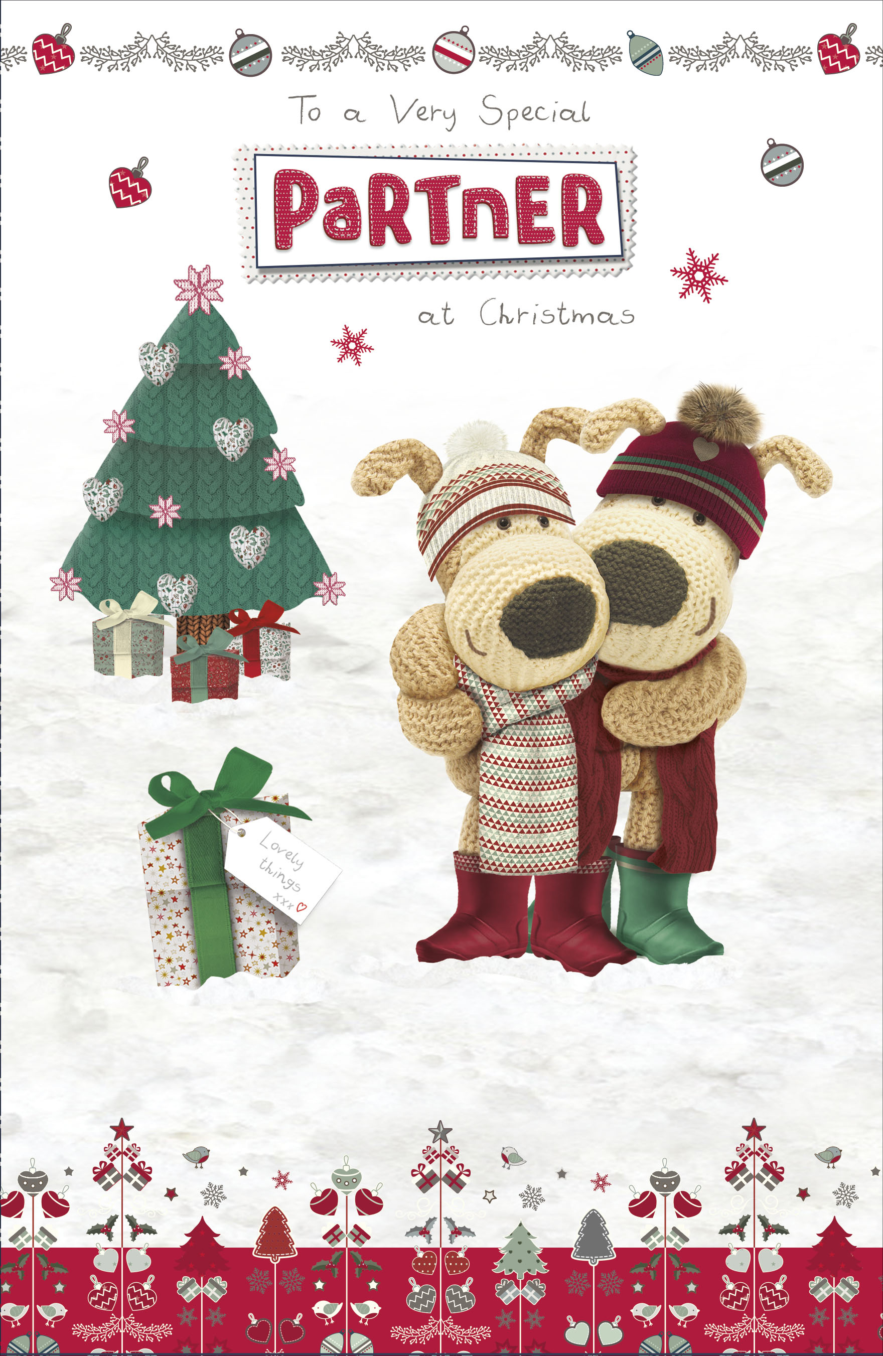 Boofle Very Special Partner Christmas Greeting Card Cute Xmas Cards