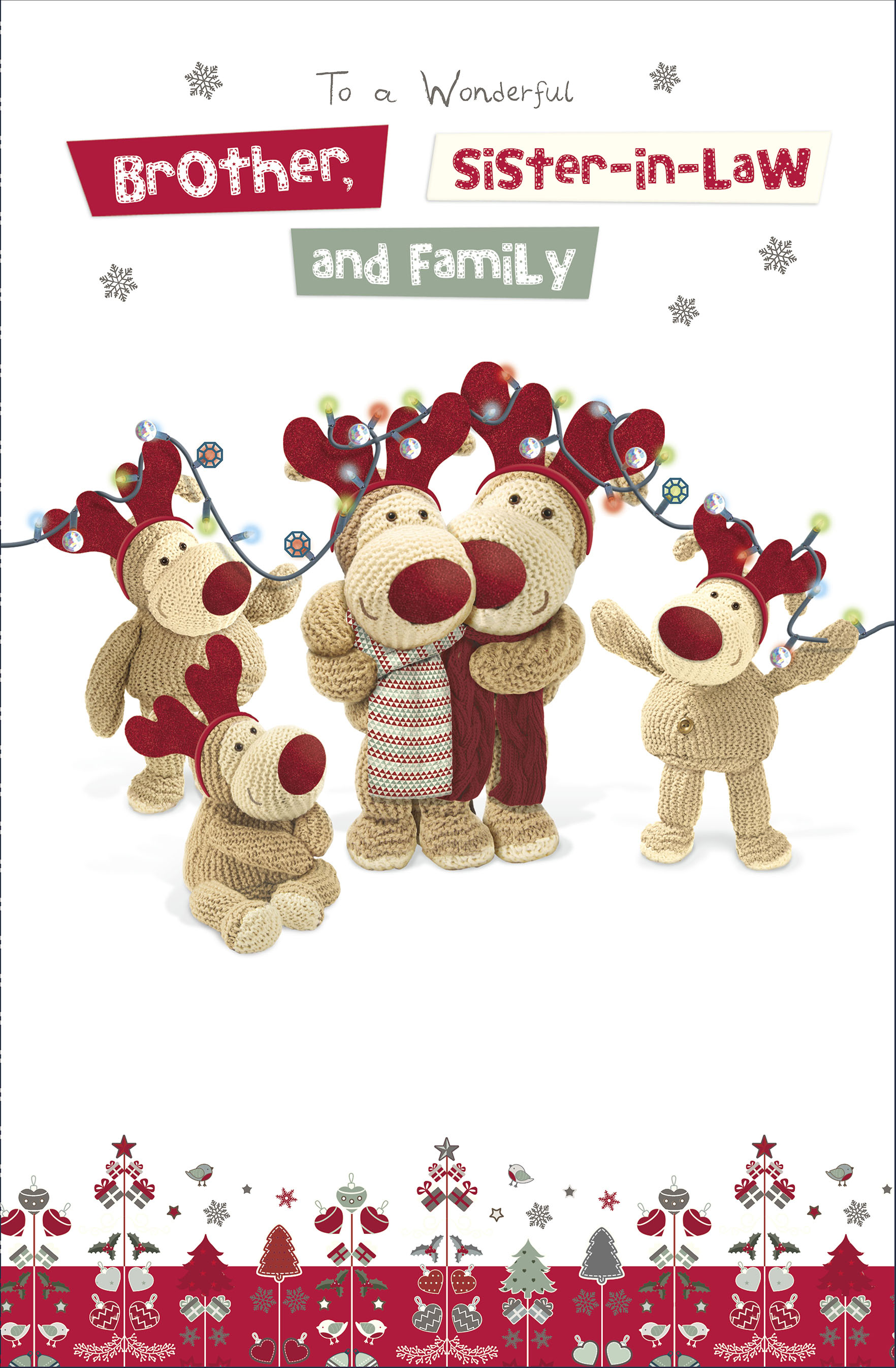 Boofle Brother & Sister-In-Law Christmas Greeting Card | Cards