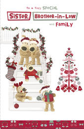 Boofle Sister & Brother-In-Law & Family Christmas Greeting Card