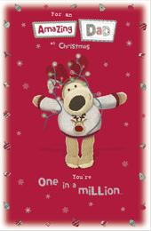 Boofle Amazing Dad Christmas Greeting Card