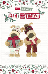 Boofle Dad & Wife Christmas Greeting Card