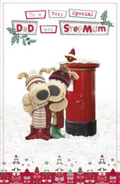 Boofle Dad & Stepmum Christmas Greeting Card