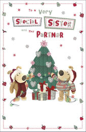 Boofle Sister & Her Partner Christmas Greeting Card