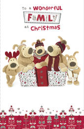 Boofle Wonderful Family Christmas Greeting Card