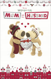 Boofle Mum & Her Husband Christmas Greeting Card