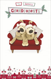 Boofle Lovely Grandparents Christmas Greeting Card