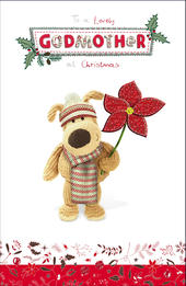 Boofle Lovely Godmother Christmas Greeting Card