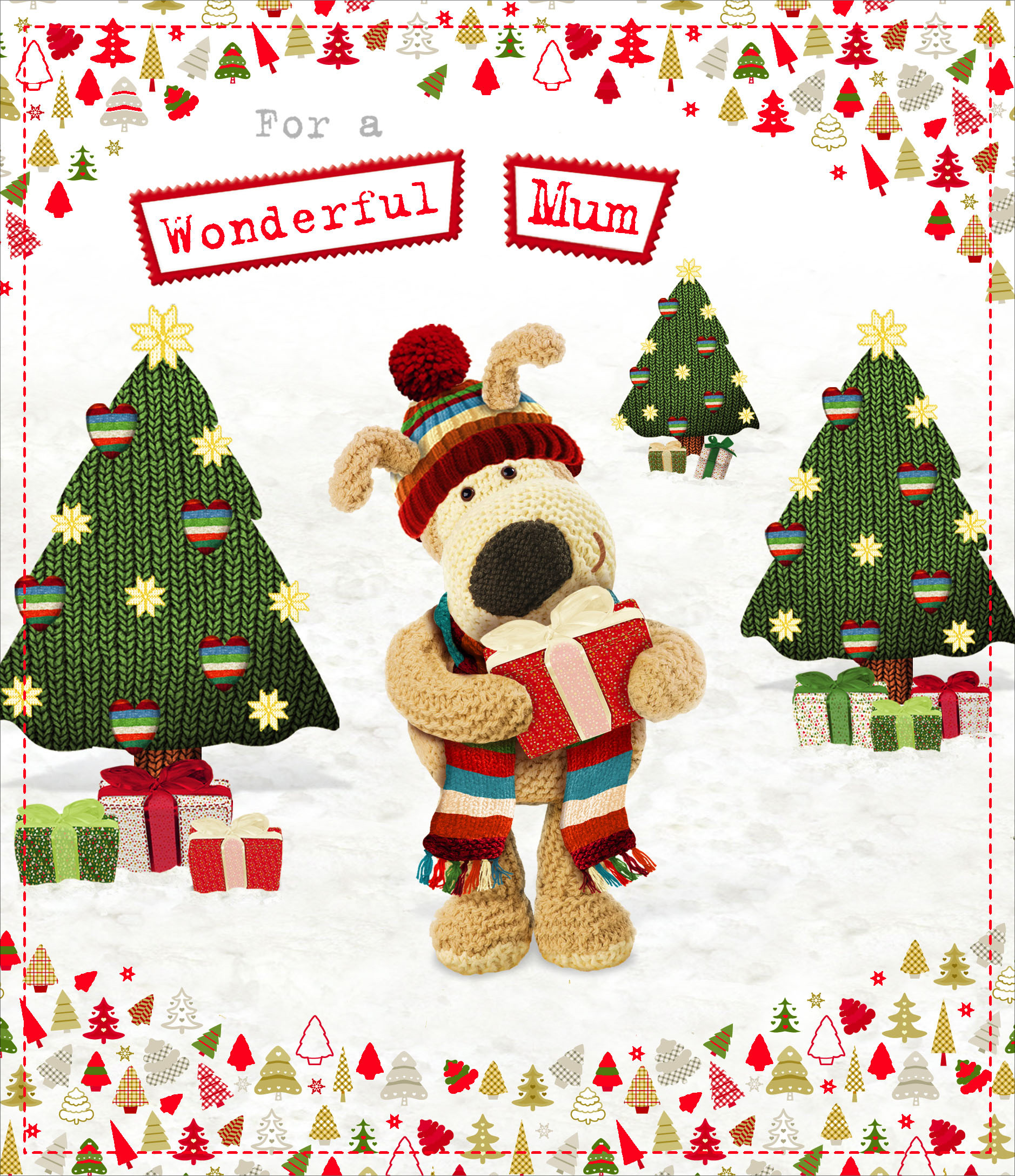 Christmas Greeting Card Images.Boofle Wonderful Mum Christmas Greeting Card