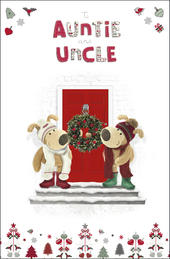 Boofle Auntie & Uncle Christmas Greeting Card